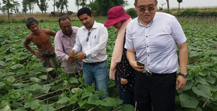 Field visit with Chinese Principal
